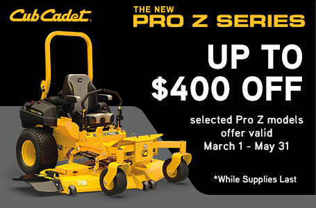 Save Up To $400 On Select Pro Z Series Mowers