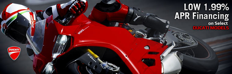 Low 1.99% APR Financing on Select Ducati Models