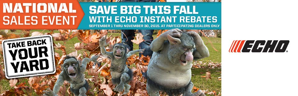 Save Big This Fall With Echo Instant Rebates