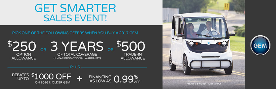 Global Electric Motorcars: Get Smarter Sales Event