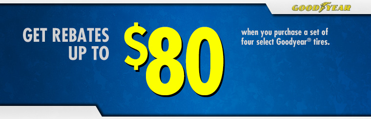 Rebates Up to $80