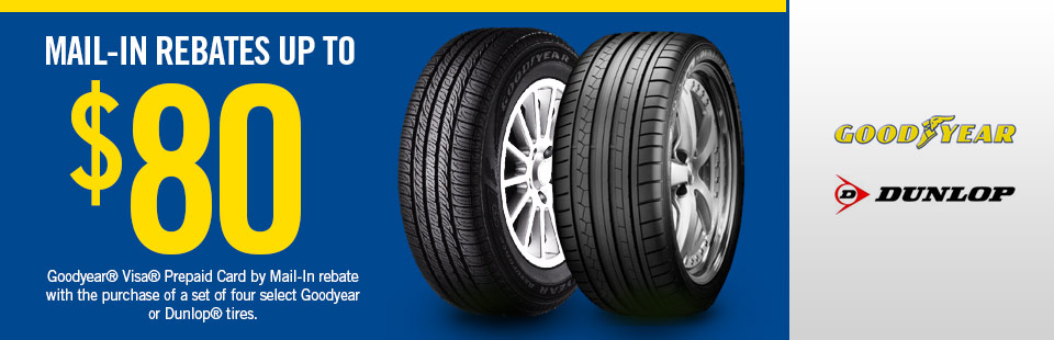 Goodyear Tire Mail-In Rebates up to $80 at Weber Tires
