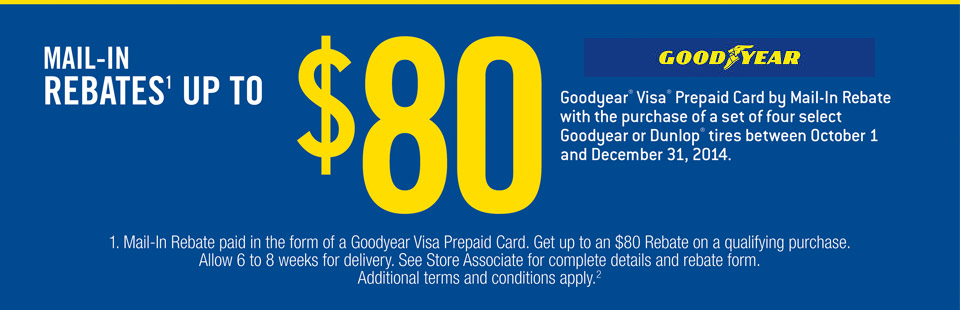 Mail-In Rebates up to $80