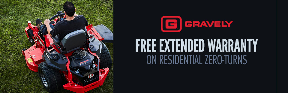 Gravely: Free Extended Warranty On Residential Zero-Turns