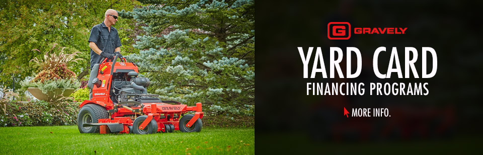 Gravely: Yard Card Financing Programs