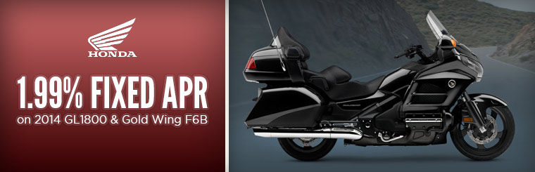 1.99% Fixed APR on 2014 GL1800 & Gold Wing F6B