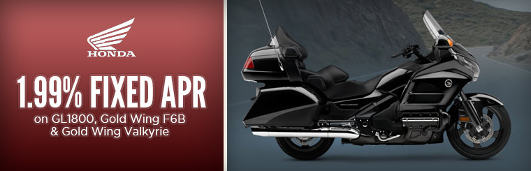1.99% Fixed APR on GL1800 and Gold Wing Models