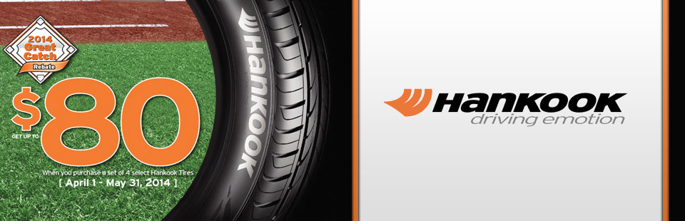 Hankook 2014 Tire Rebate at Weber Tires East of Madison WI