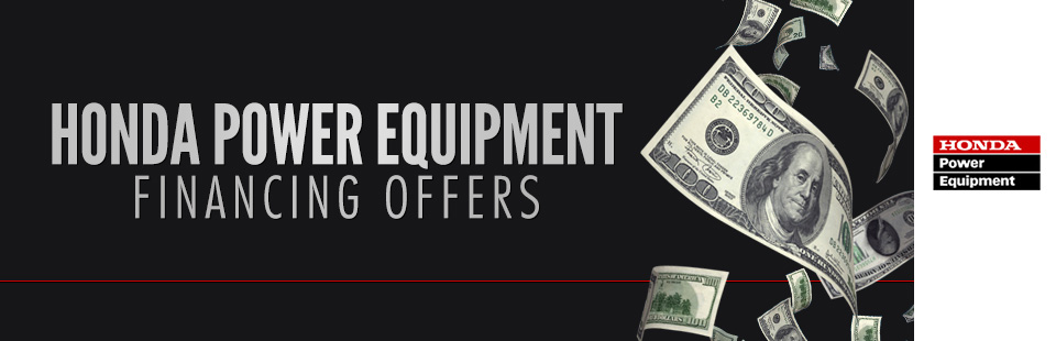 Honda Power Equipment: Financing Offers