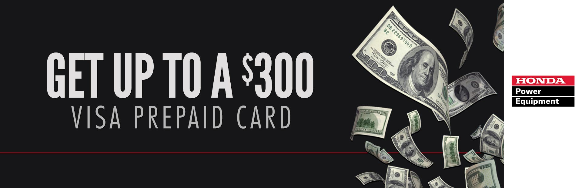 Honda Power Equipment: Get Up To A $300 Visa Prepaid Card