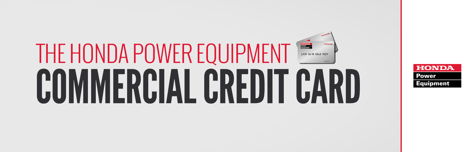 Honda Power Equipment: The Honda Power Equipment Commercial Credit Card