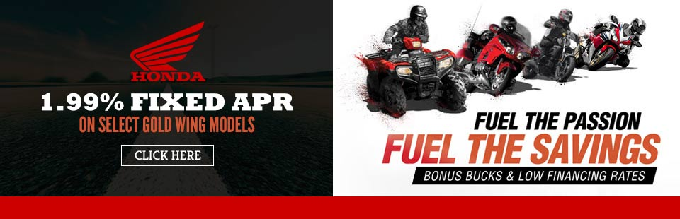 1.99% Fixed APR on select Gold Wing Models