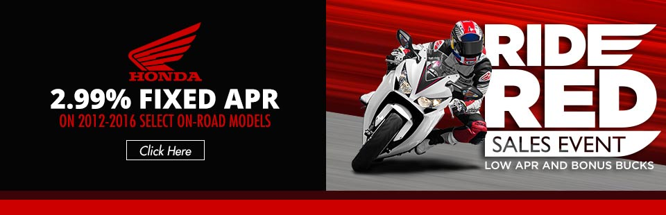 2.99% Fixed APR on 2012-2016 Select On-Road Models