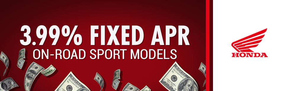 Honda: 3.99% Fixed APR On-Road Sport Models