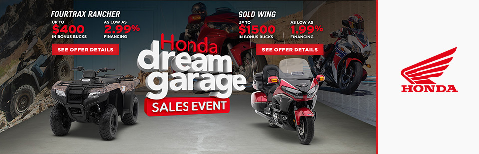 Honda: Dream Garage Sales Event