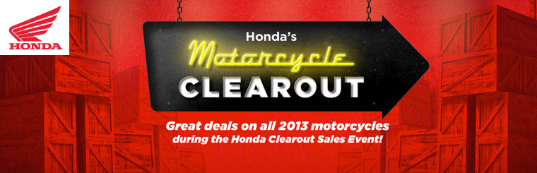 Honda's Motorcycle Clearout Sales Event!