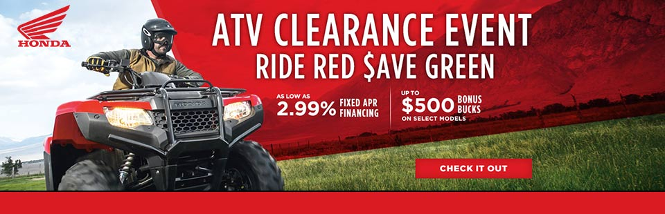 Ride Red $ave Green (ATV Clearance)