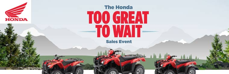 The Honda Too Great to Wait Sales Event