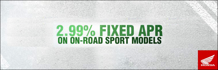 2.99% Fixed APR on On-Road Sport & Standard Models