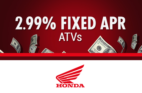 2.99% Fixed APR ATVs