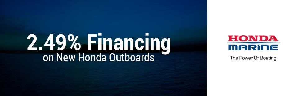 2.49% Financing on New Honda Outboards
