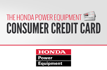 The Honda Power Equipment Consumer Credit Card