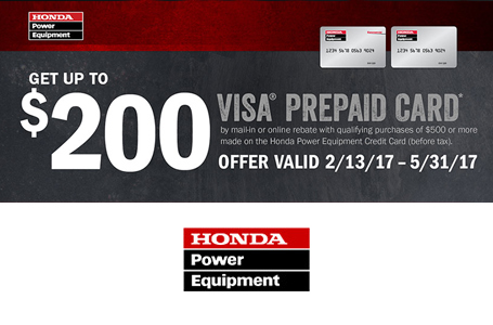 The Honda Power Equipment Credit Card