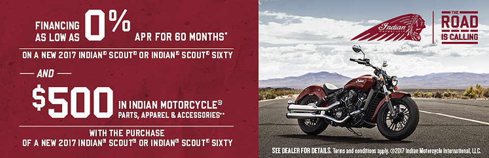 Indian Motorcycle: Scout® & Scout® Sixty Offers