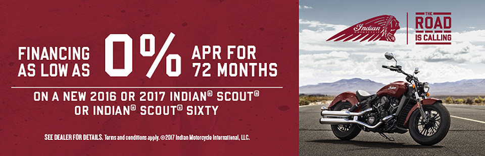 Indian Motorcycle: The Road is Calling Sales Event
