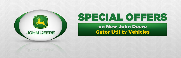 Offers on New John Deere Gator Utility Vehicles