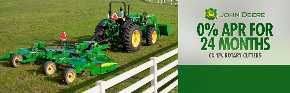 John Deere: 0% APR for 24 Months on New Rotary Cutters