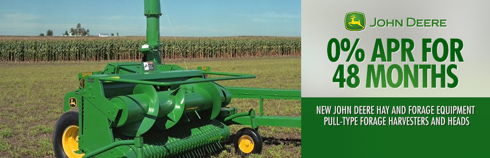 John Deere: 0% APR for 48 Months Pull-Type Forage Harvesters