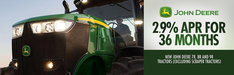 John Deere: 2.9% APR for 36 Months (7R, 8R and 9R Tractors)