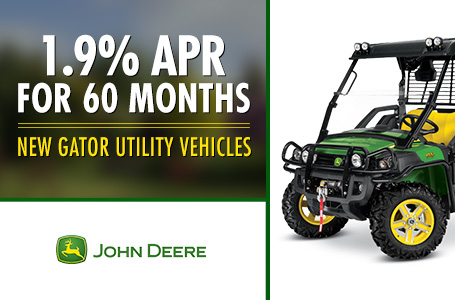 1.9% APR for 60 Months New Gator Utility Vehicles