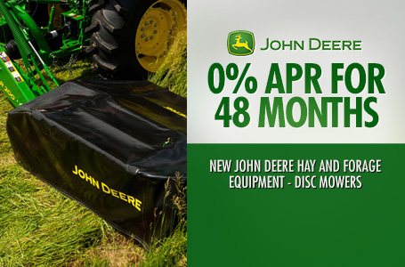 0% APR for 48 Months Disc Mowers
