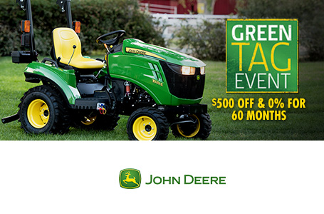 Green Tag Event $500 Off And 0% For 60 Months