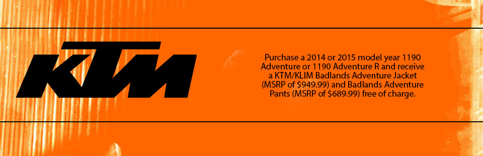 Get a Free Klim Jacket with Select Models