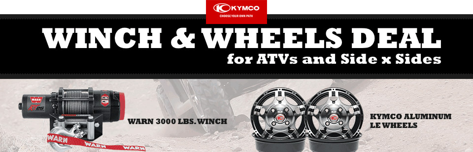Winch & Wheels Deal for ATVs and Side x Sides
