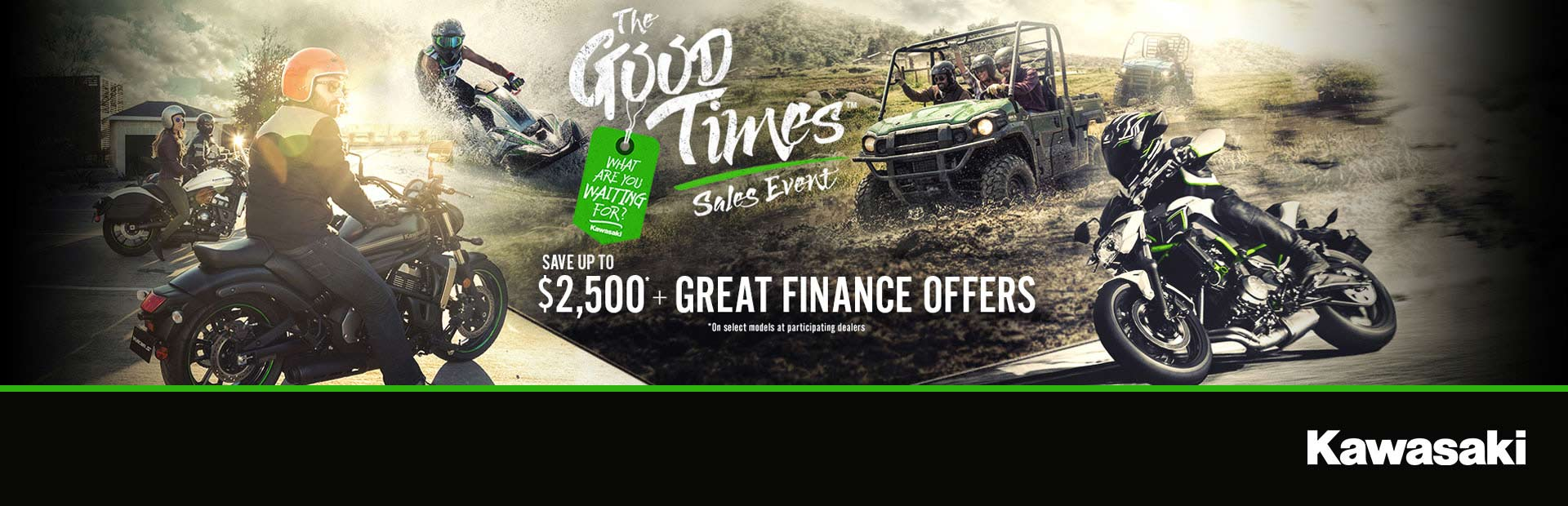 Kawasaki: Good Times Sales Event