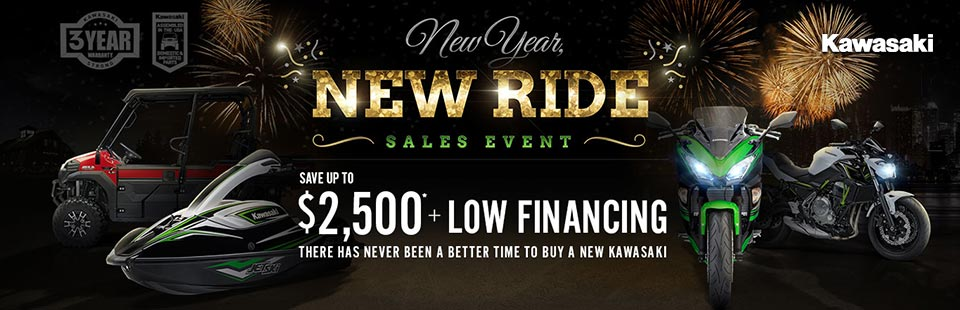 Kawasaki: New Year, New Ride Sales Event