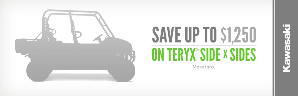 Save Up to $1,250 on Teryx® Side x Sides