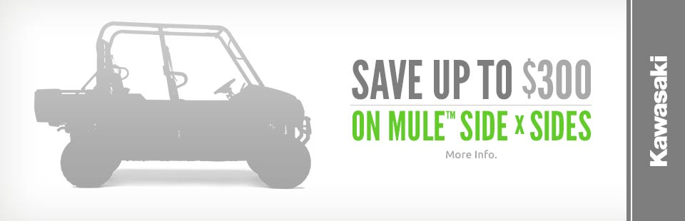 Save Up to $300 on MULE™ Side x Sides