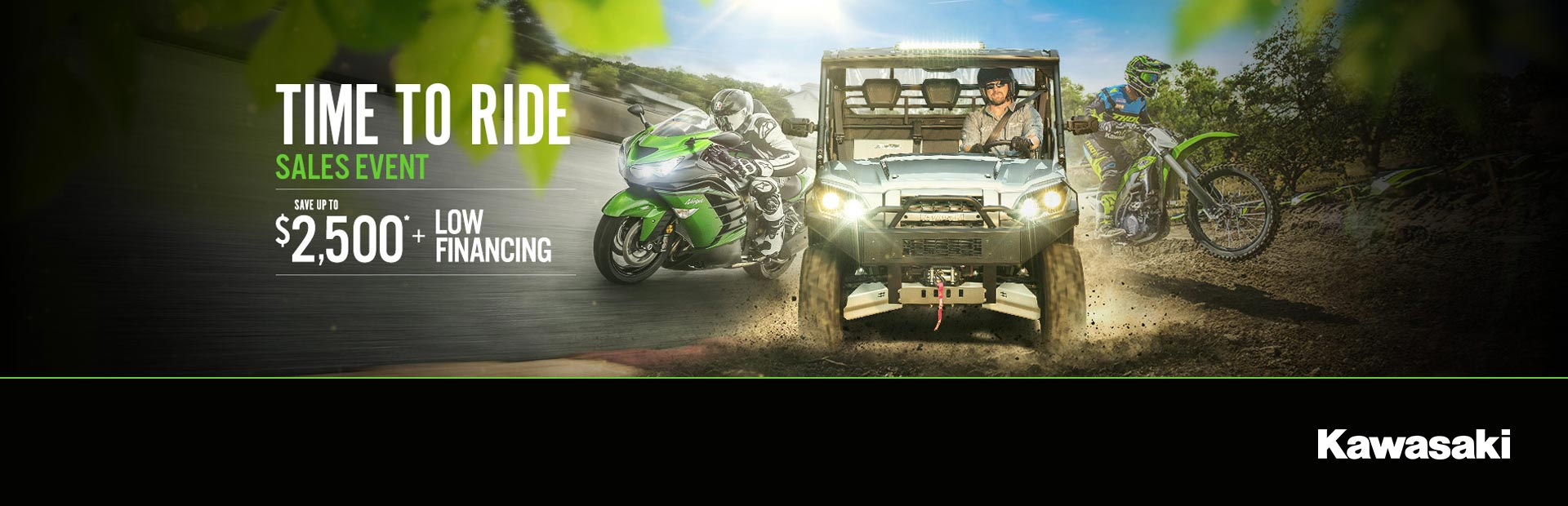 Kawasaki: Time To Ride Sales Event