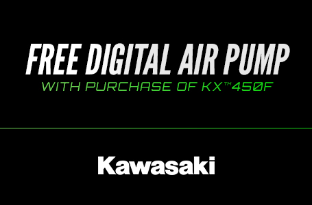 Free Digital Air Pump with Purchase of KX™450F