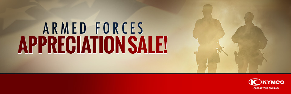 KYMCO: Armed Forces Appreciation Sale!