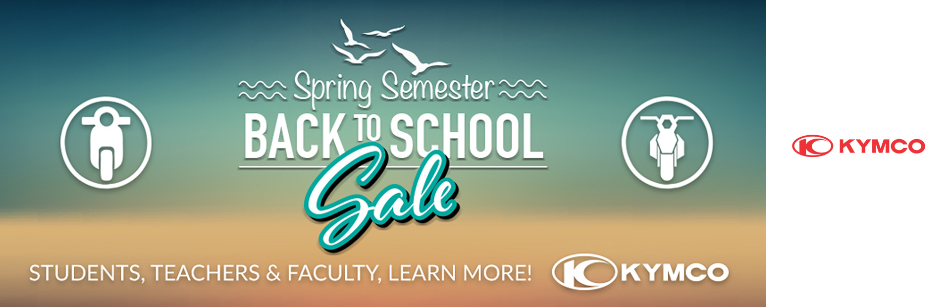 KYMCO: Spring Back to School Sale