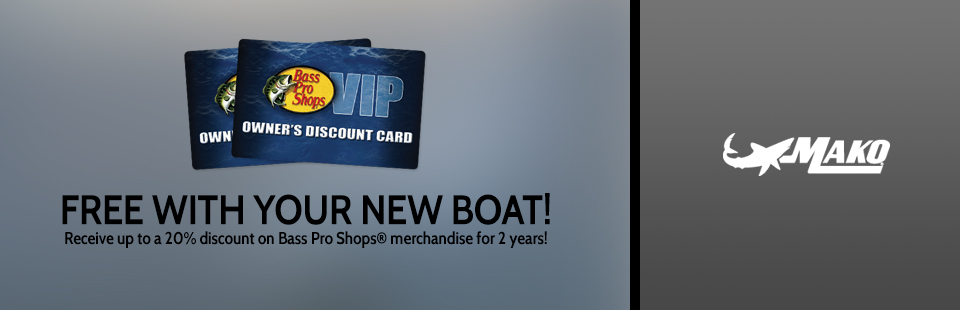 Mako: Bass Pro VIP Discount Card with MAKO Purchase