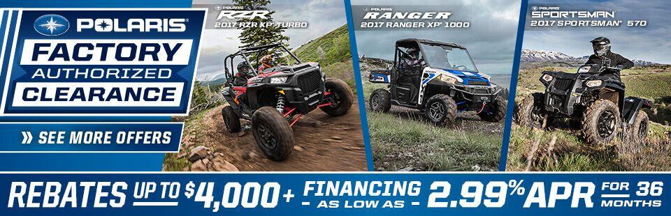 Polaris Industries: Polaris Factory Authorized Clearance