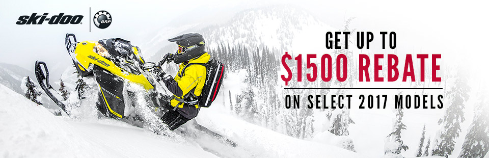 Ski-Doo: Get Up To $1500 Rebate On Select 2017 Models
