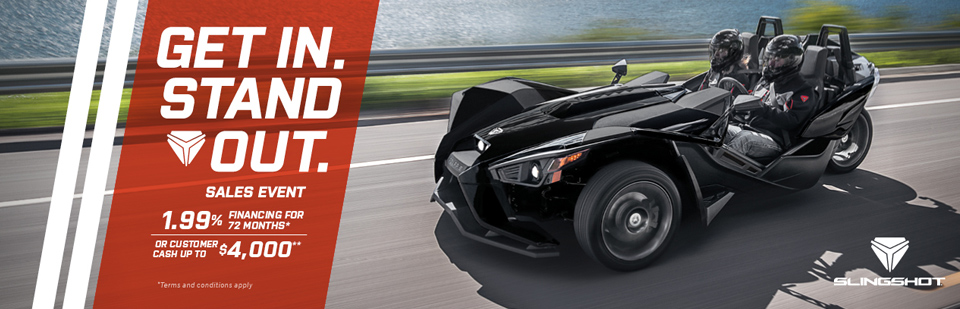 Slingshot: Get In. Stand Out. Sales Event (June)